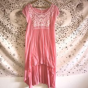 Free People Light a Pink High-Low Dress